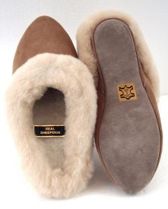 LADIES LEATHER SLIPPER SHOE | AMBER
