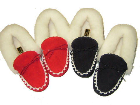 Ladies Fleece Lined Leather Moccasin | Isabelle