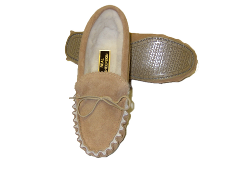 Moccasin Wool Lined with Soft Sole | Robin