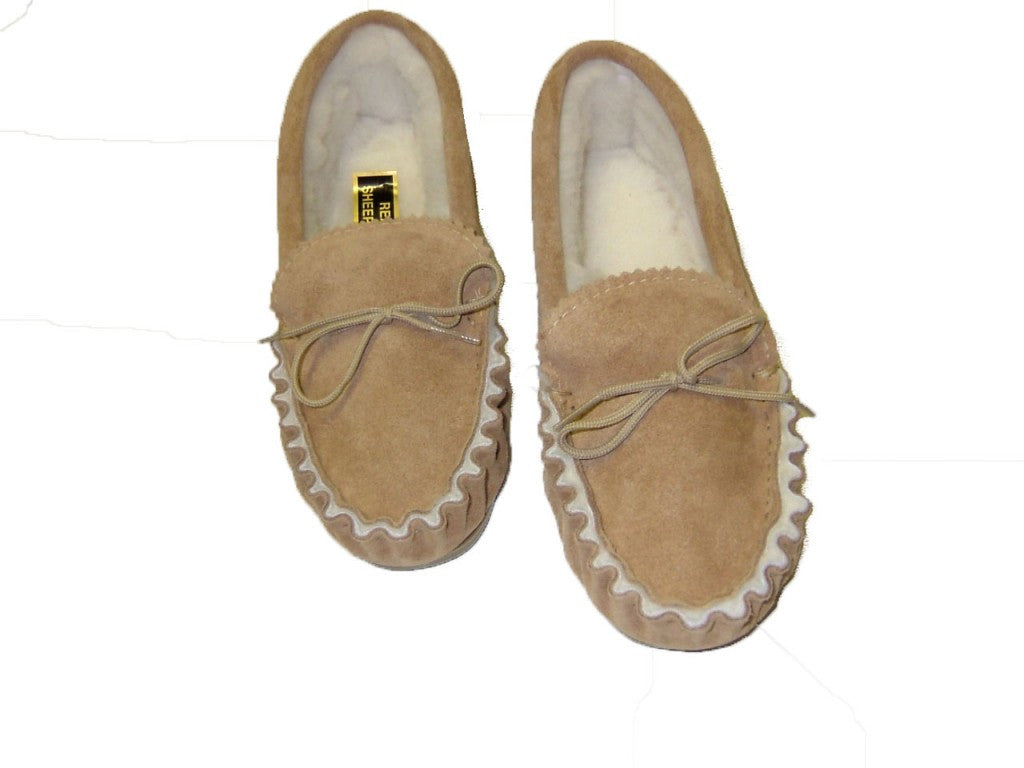 Sheepskin Lined Moccasin with Soft Sole | Shetland
