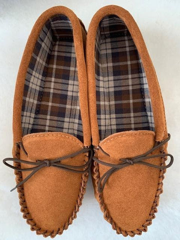 Gents Leather Moccasin Slipper Hard sole | Richard