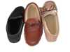 Leather Moccasin with Sheepskin Lining and Hard Sole | Jamie