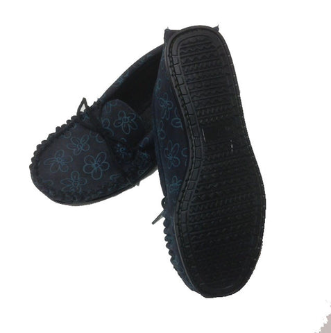 Ladies Suede Moccasin with wool lining and collar | Teresa