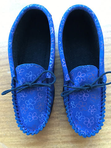 Ladies Leather Moccasin with Fabric Lining and Hard Sole | Rachel