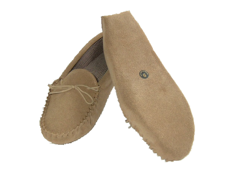 Leather Moccasin with Wool Lining and Hard Sole | Andrew