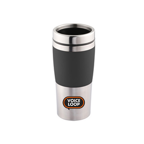 Voice Loop 450ml Gig Ready Double Wall Travel Mug (Red / Black)