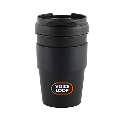 Voice Loop Reusable 400ml Tea Mug - Matte Black