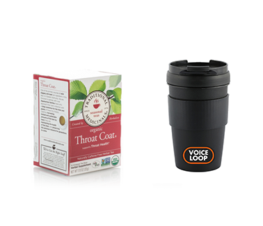 Throat Coat Tea + Travel Mug Combo (Save over 10%)