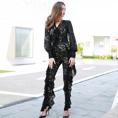 LACE LINED JUMPSUIT