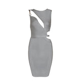 SLASH BANDAGE DRESS