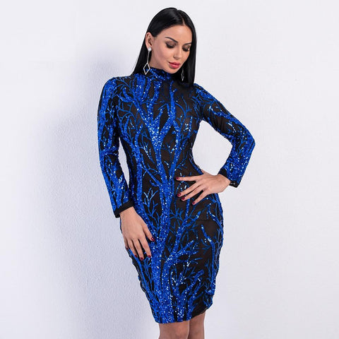 ENCHANTED FOREST SEQUIN BODYCON DRESS