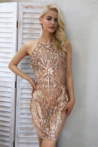 SEQUIN SHEER DRESS