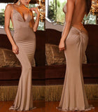 "V-Neck Halter Bodycon Maxi Dress "" 20% OFF TODAY """