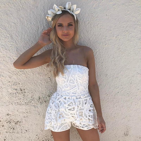 SLEEVELESS LACE PLAYSUIT