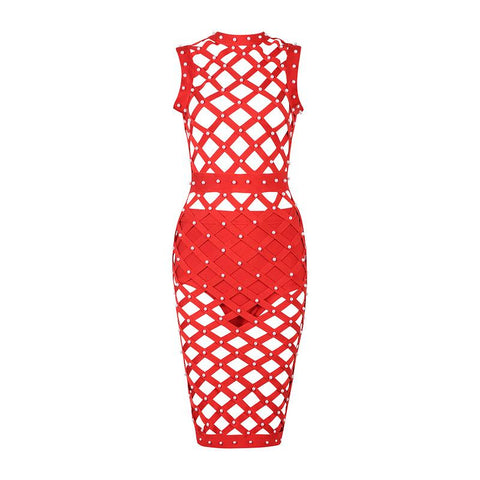 CAGED BANDAGE DRESS