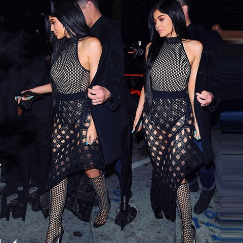 KYLIE MESH BANDAGE DRESS