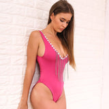 CHAINED CRYSTAL SWIMSUIT