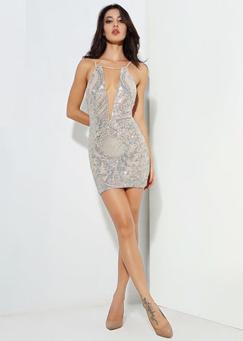 FAITH SEQUIN MINI DRESS