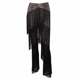 LACE FRINGED PANTS