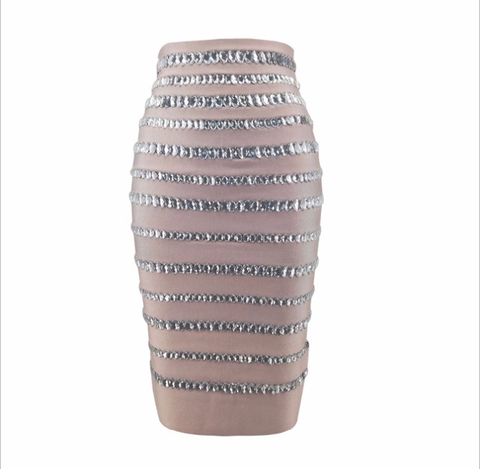CRYSTAL BANDAGE SKIRT