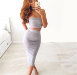 SUEDE SKIRT SET