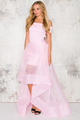 off the shoulder organza dress