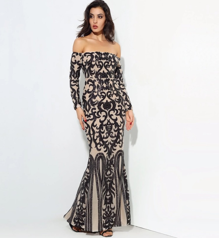 GEORGINA OFF THE SHOULDER GOWN