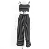 PIN STRIPE PANTS SET