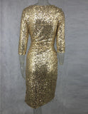 SEQUIN SPLIT LEG DRESS