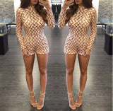 GRID SEQUIN PLAYSUIT
