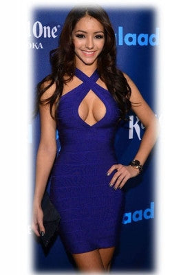 Cross Front Tight Bandage Dress