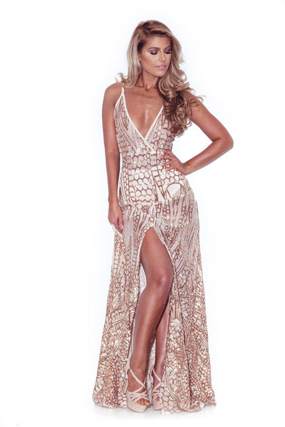 sequin maxi dress