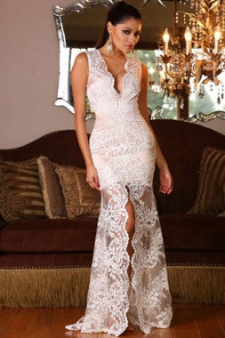 "lace slit evening dress  "" 20% OFF TODAY """
