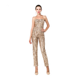 "SLEEVELESS SEQUIN JUMPSUIT "" 20% OFF RIGHT NOW """