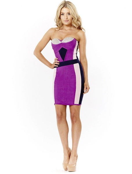 CRYSTAL TOP BANDAGE DRESS