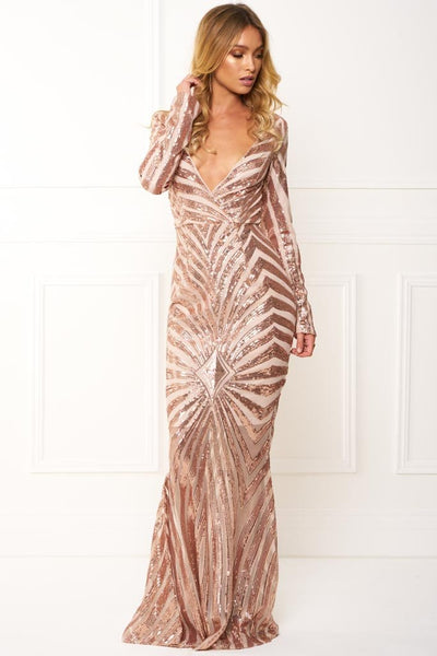 RETRO SEQUIN MAXI GOWN