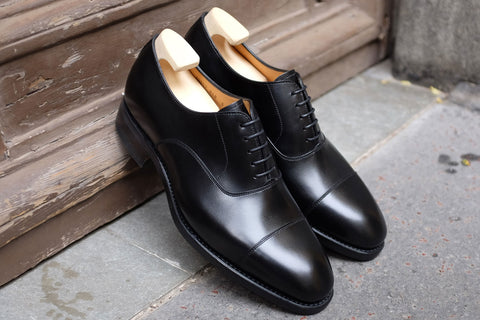 Carlos Santos Black Dress Shoes with Dainite