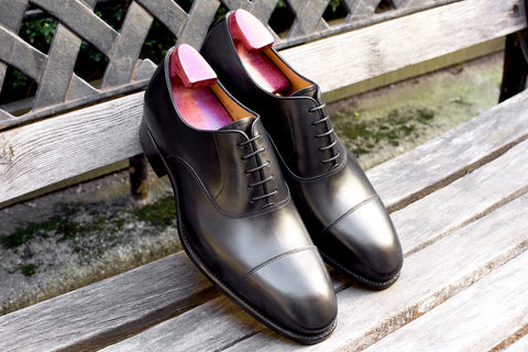 Carlos Santos Black Dress Shoes