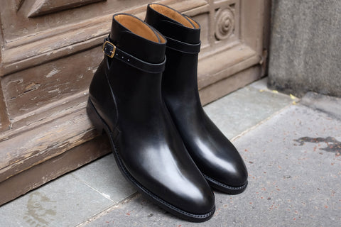 Carlos Santos Jodhpur in Black Calf