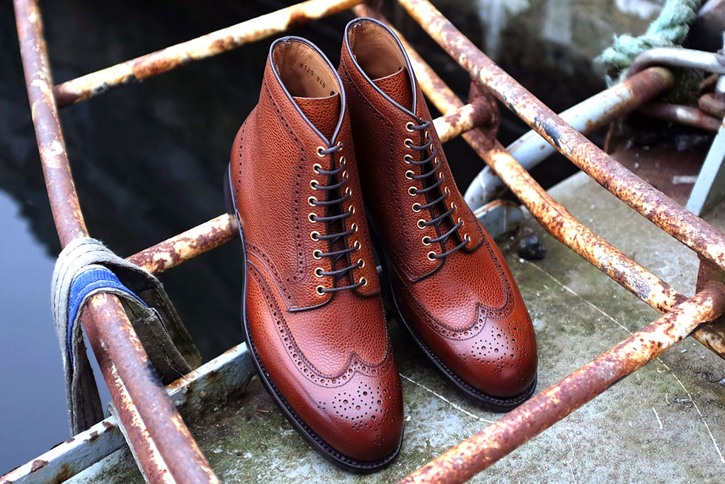 Carlos Santos Grain Wingtip Boot