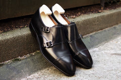 Carmina Black Double Monk