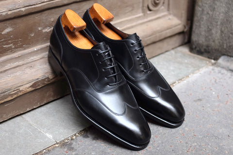 Carmina Black Austerity Brogue