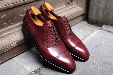 Carmina Burgundy Quarter Brogue