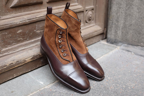Enzo Bonafé Chocolate Button Boots