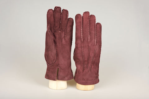 Hestra Fur Lined Glove - Bordeaux Suede