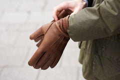 Hestra wool lined glove - Siena Peccary
