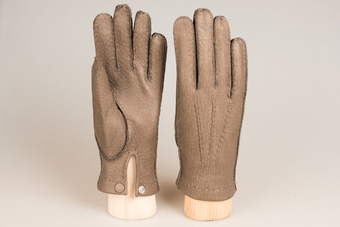 Hestra Unlined Glove - Dove Grey Peccary