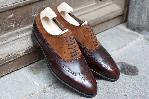 John Lobb Prestige Cavendish in Dark Brown Misty Calf and Parisian Brown Suede