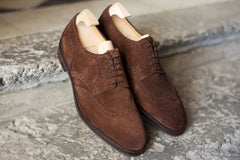 John Lobb Hayle in Dark Brown Suede