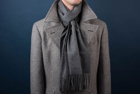 Johnstons of Elgin Cashmere Scarf - Charcoal
